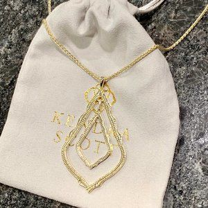 New Kendra Scott Simon Necklace In Gold